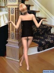Amanda likes erotic poses : Amanda 3D model