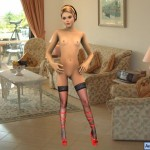 Blonde likes nudity : Amanda 3D model
