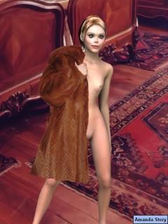 Amanda Sexy Story : Adult 3D Comics Amanda 3D model